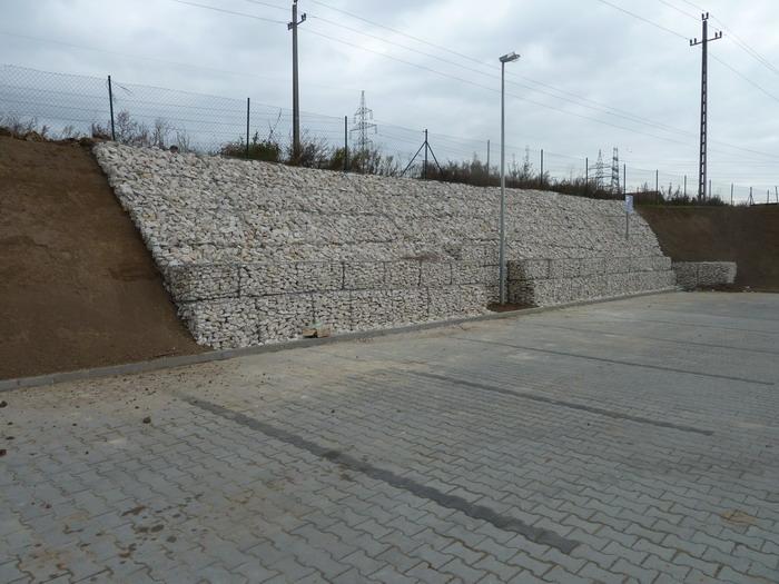 Érd, DM Csarnok parkoló építési munkái