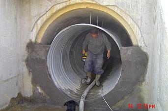 ViaCon Helcor hullámosított acél béléscső beépítési technológia (betonozás)